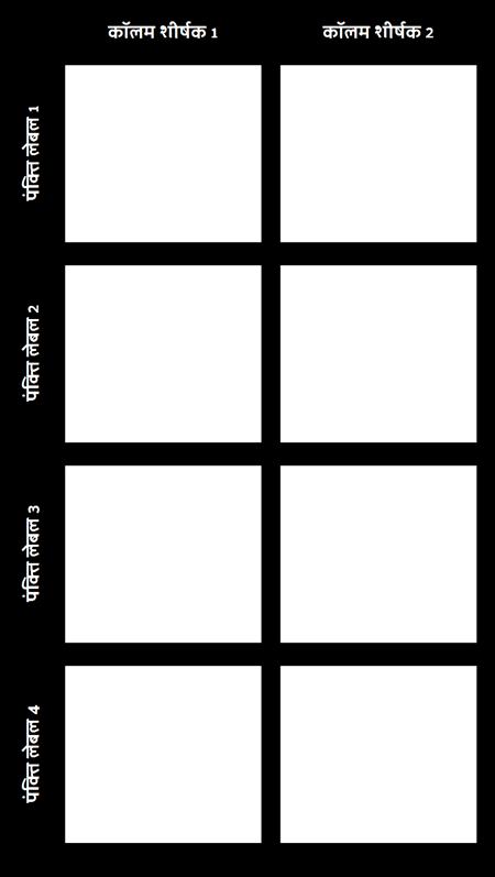 रिक्त 2X4 चार्ट
