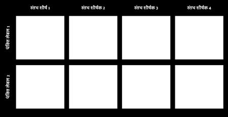 खाली 2x4 चार्ट