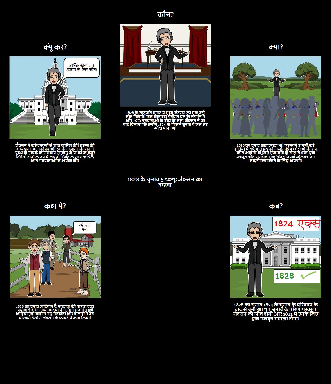 1828 के चुनाव: जैक्सन की विजय