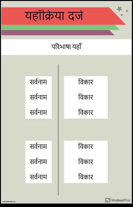Verb Conjugation Poster