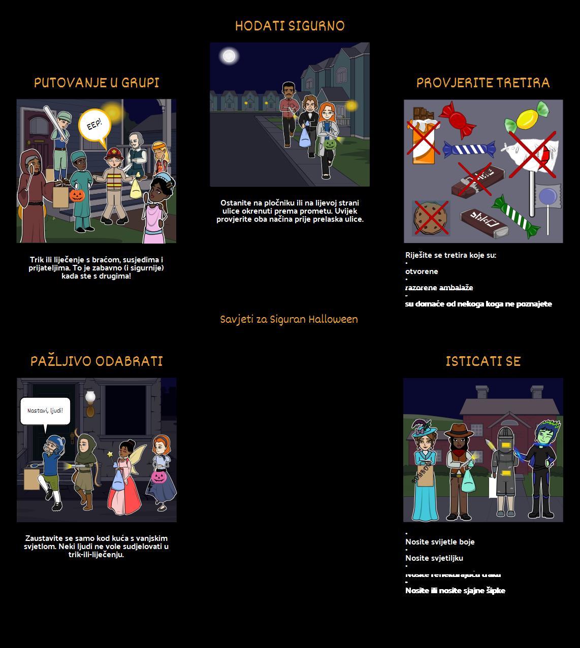 Aktivnosti u noć Vještica - Sigurnost