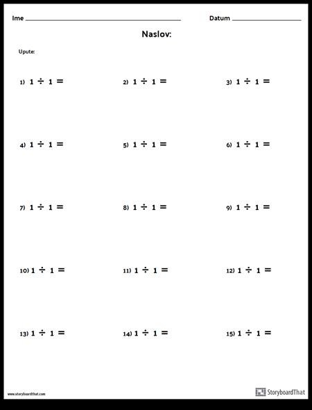 Divizija - Jedinstveni Broj - Verzija 1