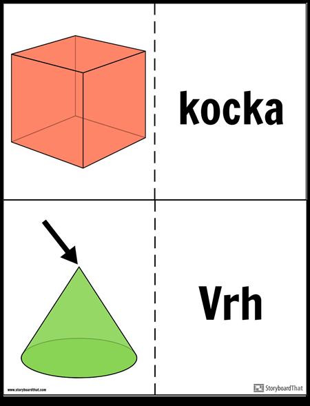 Flash Kartice za Geometrijske Čvrste Tvari