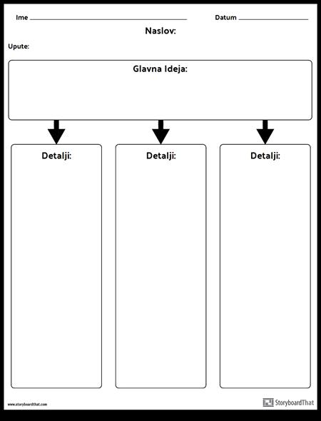 Glavna Ideja - Stupci