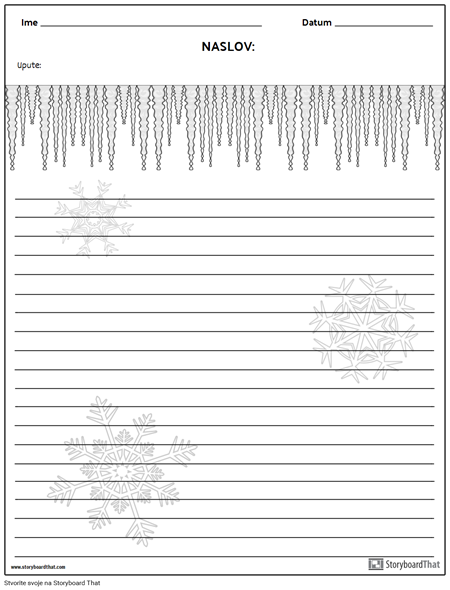 Kreativno Pisanje - Zima