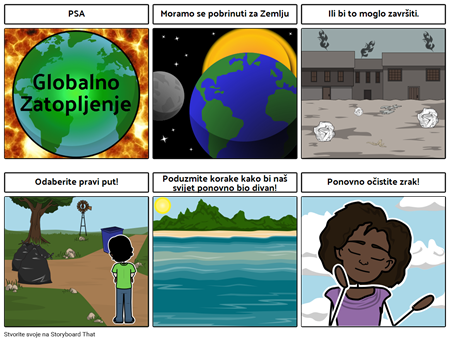 Najava Javnih Službi - Globalno Zatopljenje