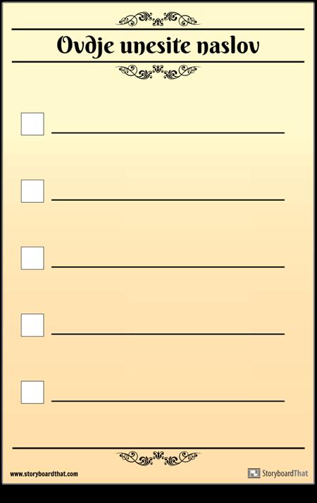 Osnovni 5 Kontrolni Popis