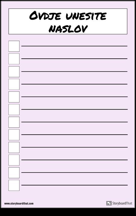 Osnovni Plakat za Popis