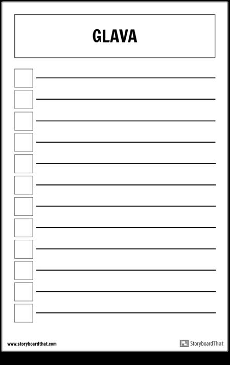 Osnovni Popis Plakata za Provjeru