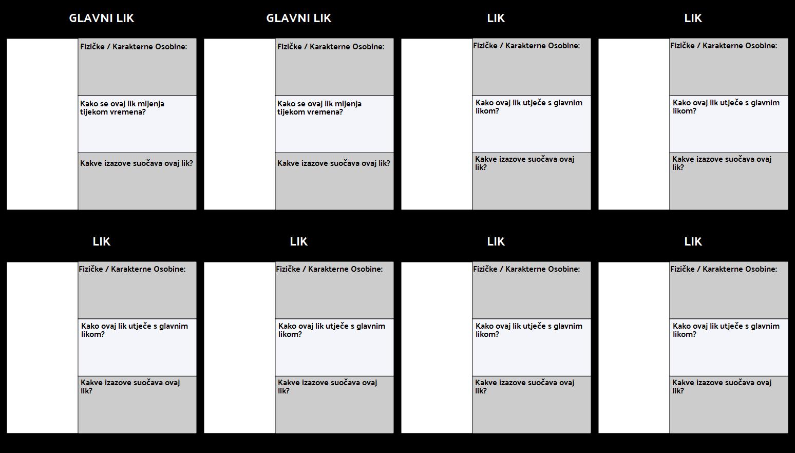 Predložak Karte Znaka 3 Polje Ispunjeno
