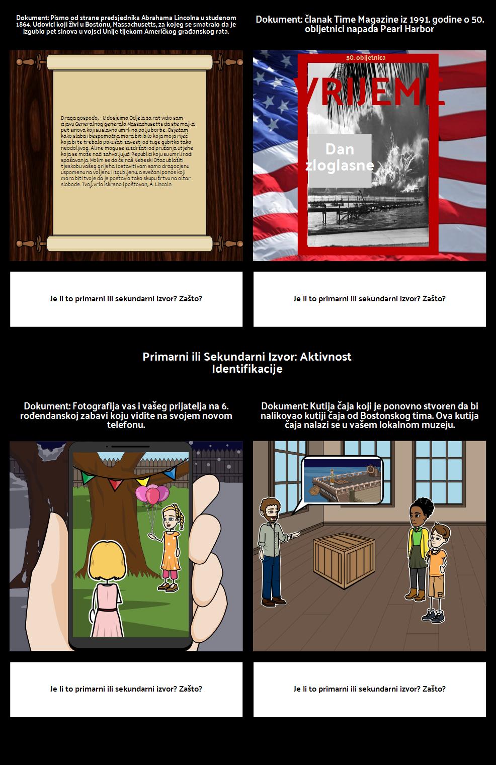 Primarni i Sekundarni Izvor Prepoznavanja: Student Copy