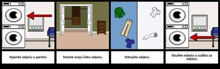 Prvi ... Posljednji Primjer - Pranje Odjeće