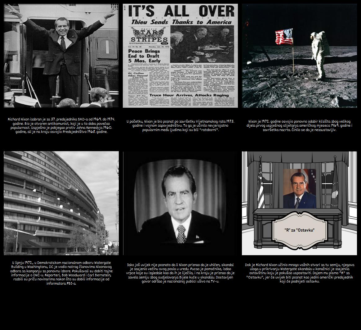 Skandal u Grimiznom Pismu - Richard Nixon