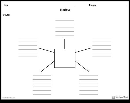 Spider karta s linijama - 5