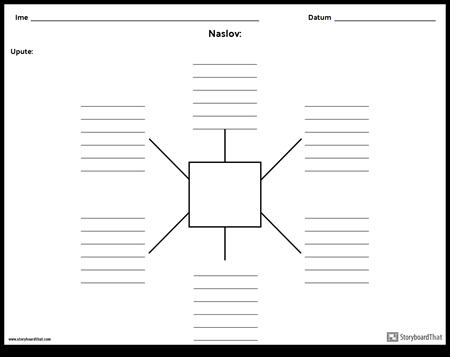 Spider karta s linijama - 6