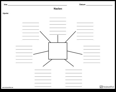 Spider karta s linijama - 7