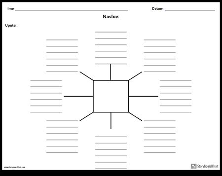 Spider karta s linijama - 8