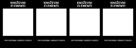 T-grafikon Književnih Elemenata