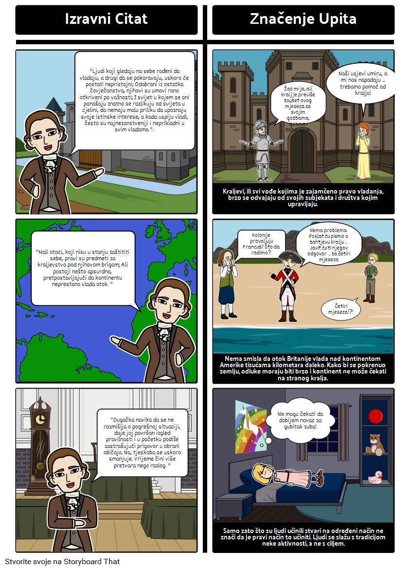 Thomas Paine Common Sense - Analiza Citata