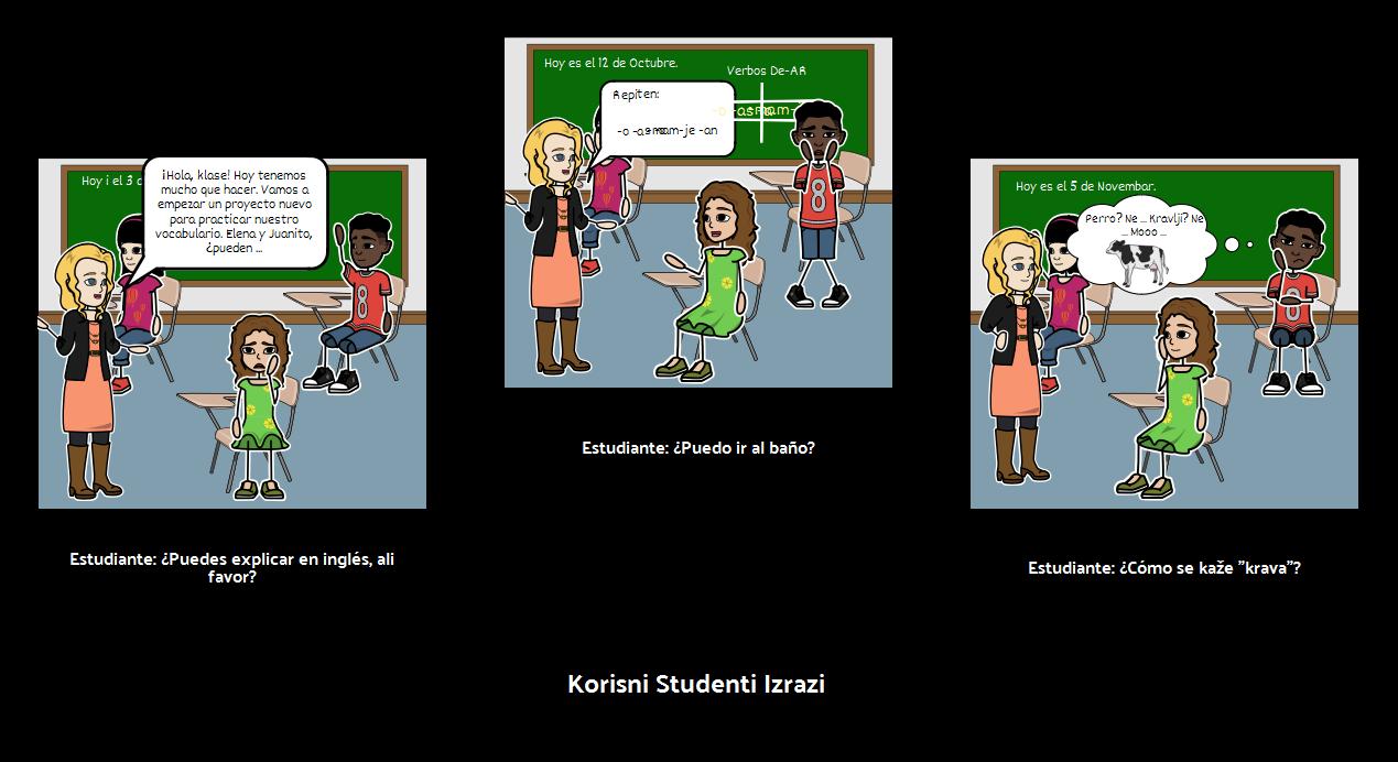 Učionica: Studentski Izrazi