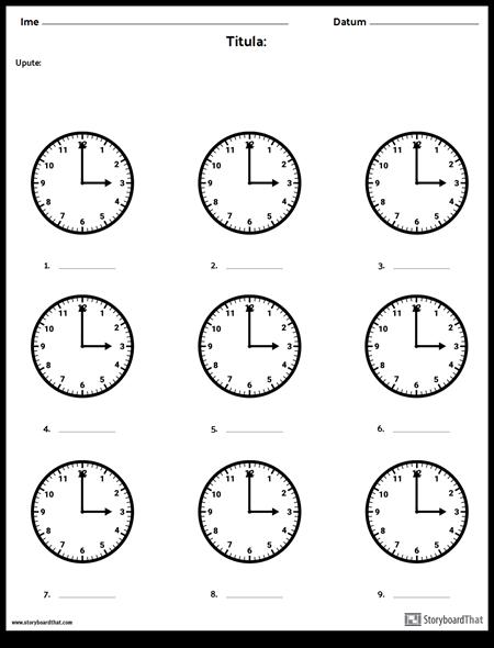 Zapiši Vrijeme