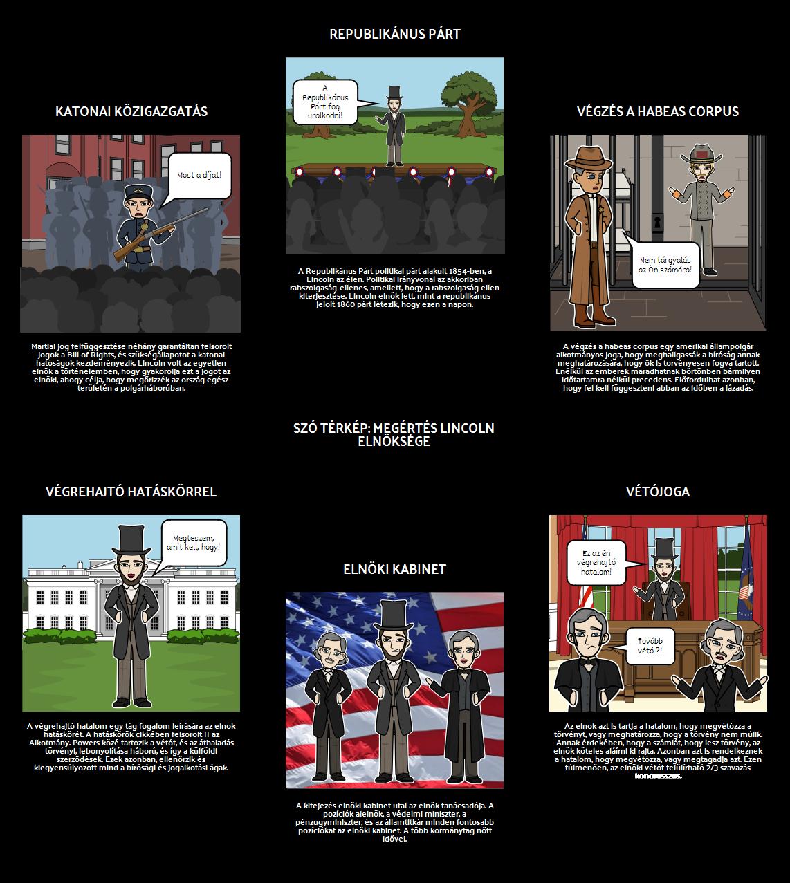 Abraham Lincoln Elnöksége Szó Térkép
