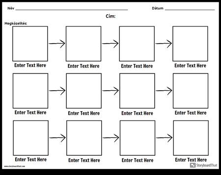 Egyszerű Folyamatábra - 3 sor