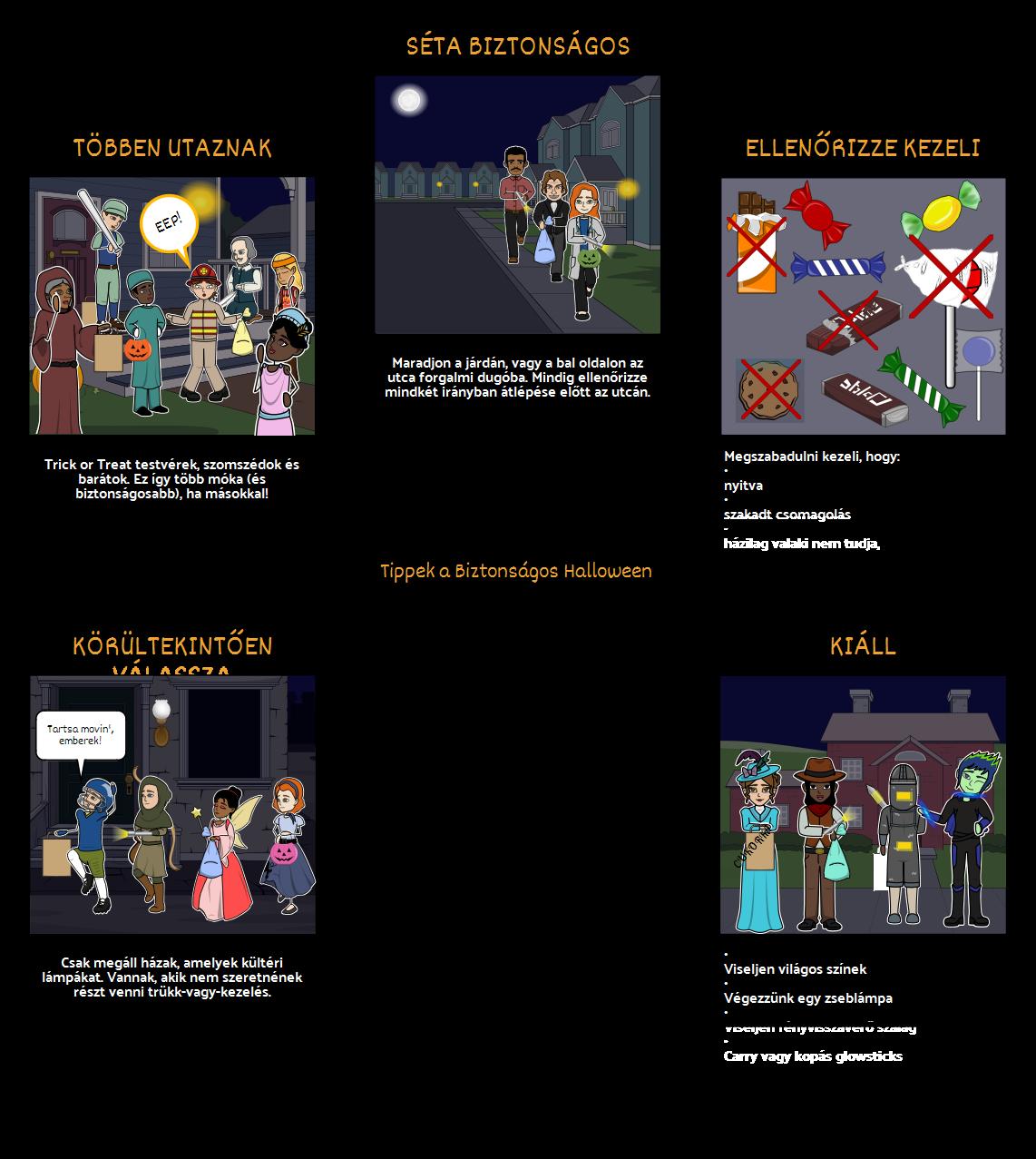 Halloween Tevékenységek - Biztonsági