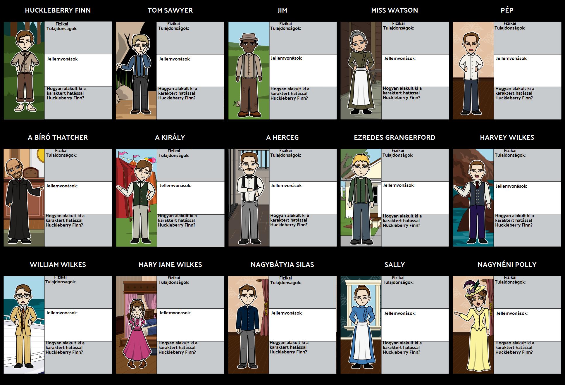 Huck Finn Karakterek Storyboard By Hu Examples