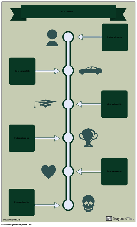 Idővonal Infographic Sablon