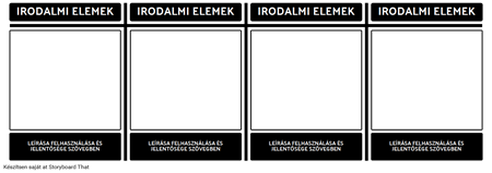 Irodalmi Elements T-diagram