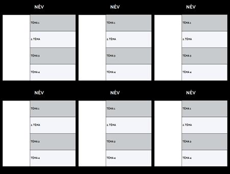 Karakter Térkép Template Blank