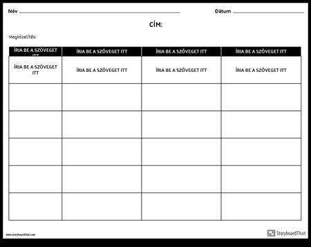Kategóriák - Kritériumok