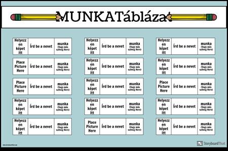 Munka Diagram Poszter