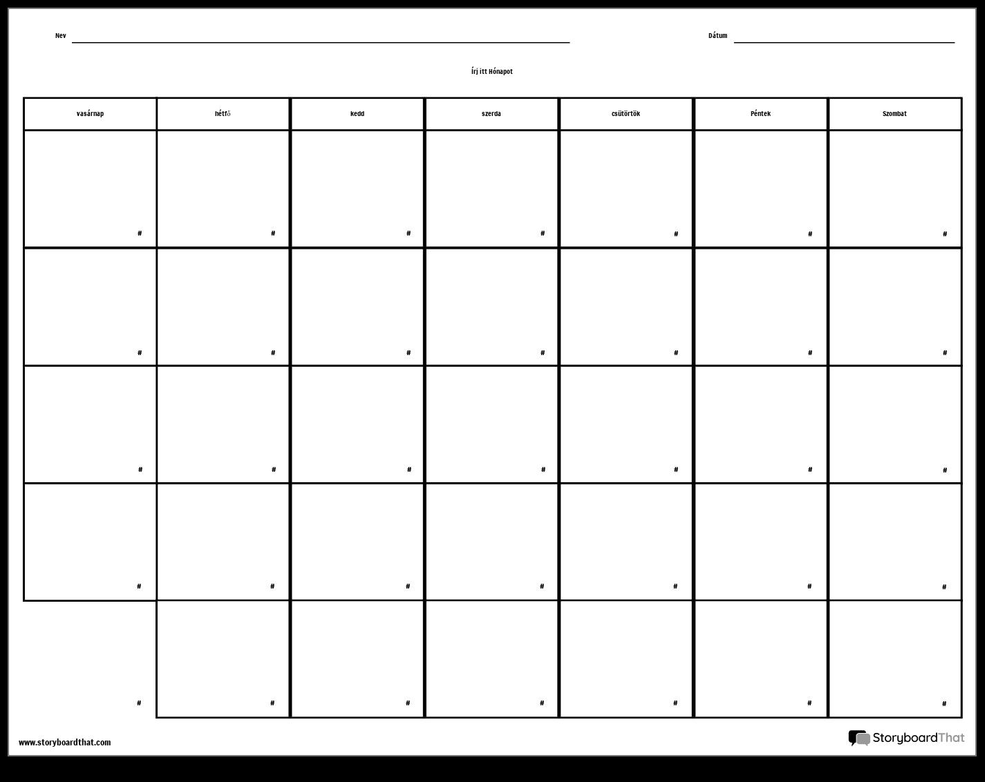 net naptár Naptár   7 nap Storyboard by hu examples net naptár
