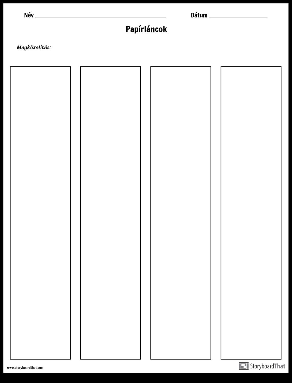 Papírlánc-sablon