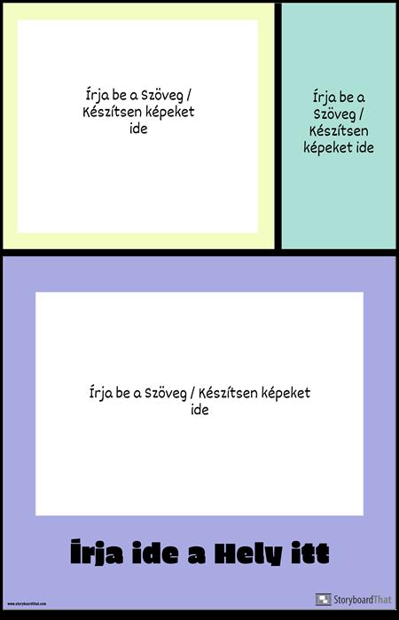 Színes Blokkok Utazási Poszter