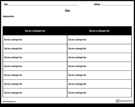 Táblázat - 2 Oszlop, 7 sor