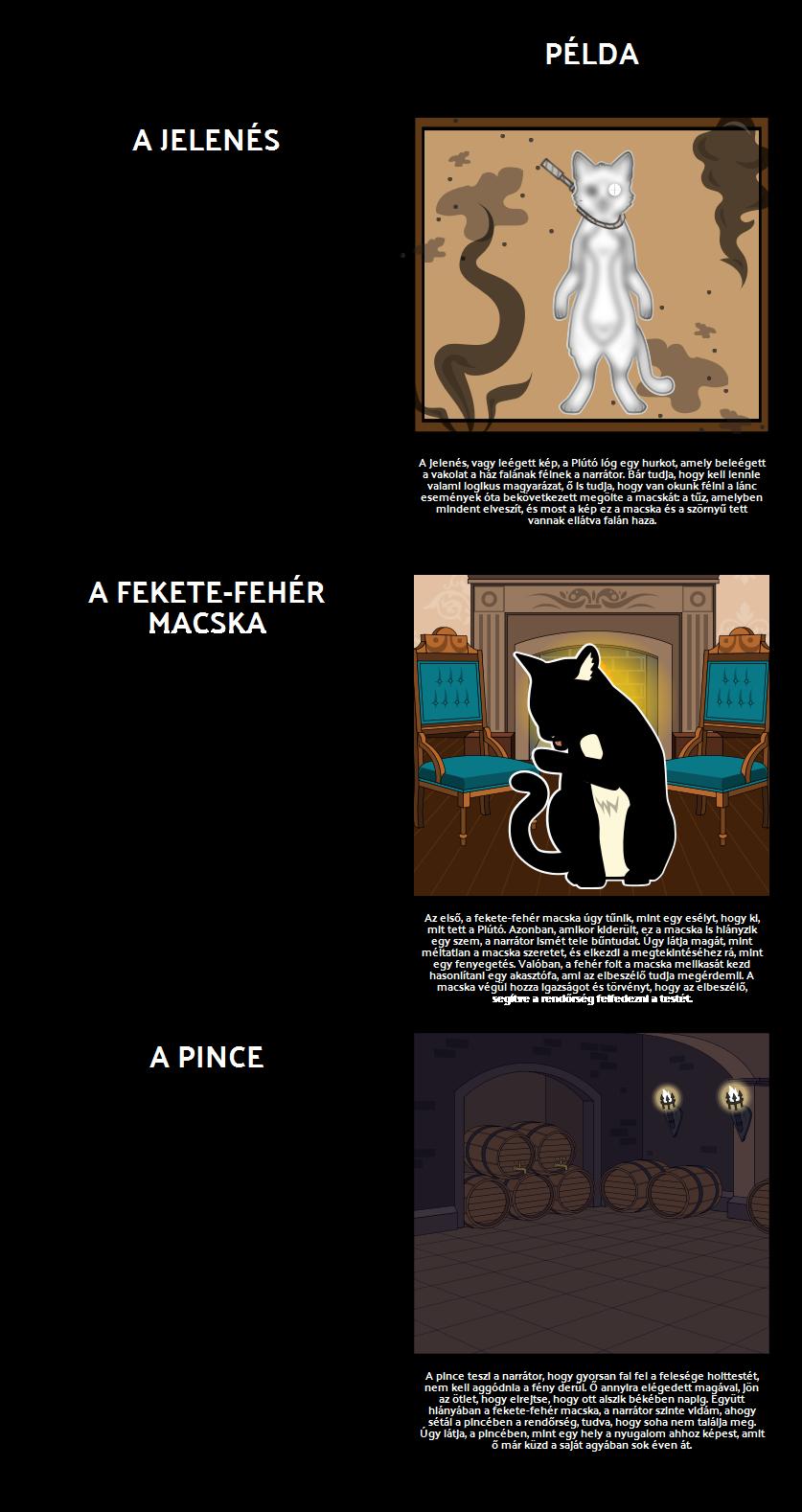 Témák, Szimbólumok és Motívumok Black Cat