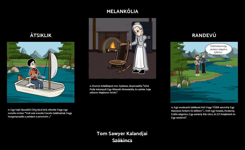 Tom Sawyer Kalandjai Vocabulary