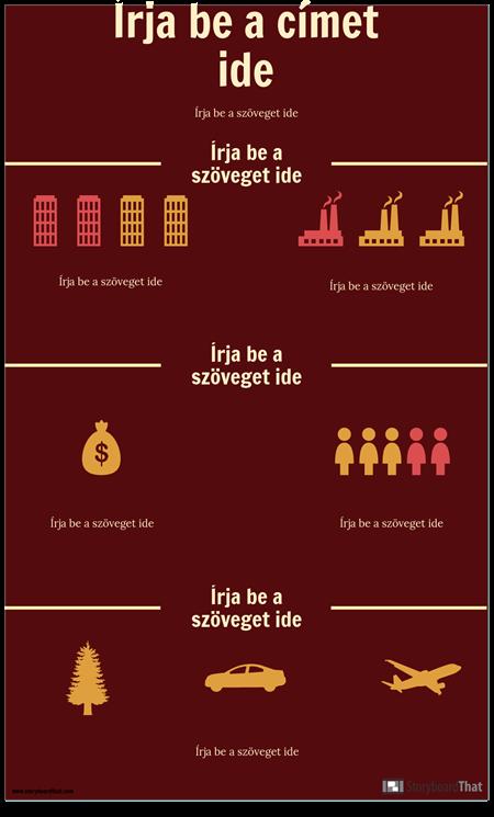 Tudományos Infographic Sablon
