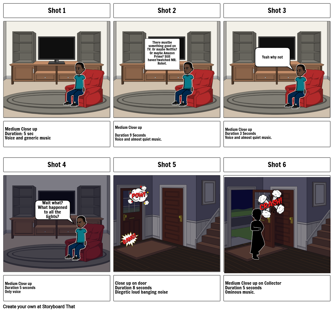 """""""DUE"""" The collector storyboard"""