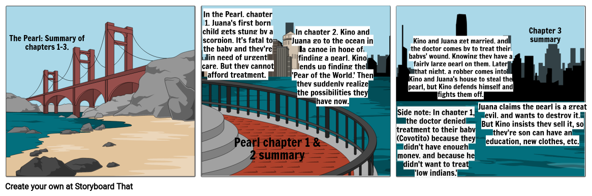 The Pearl: Summary of chapters 1-3