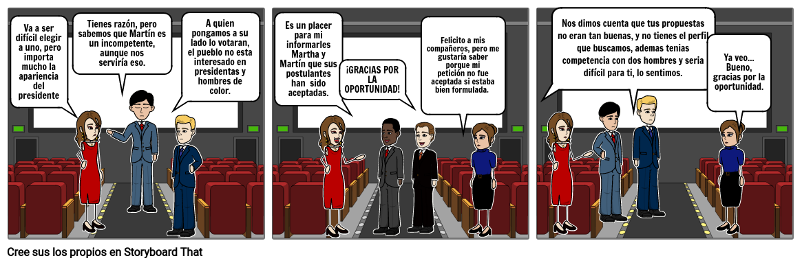 Historieta sobre la discriminación
