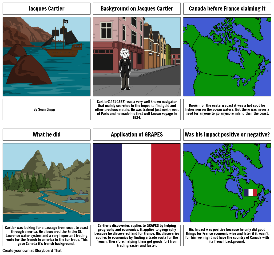 World history Jacques Cartier