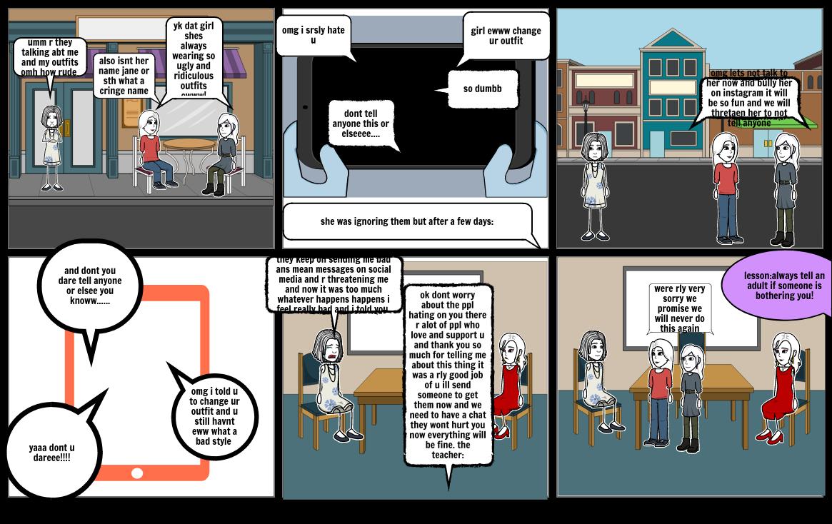 cyber bullying comic strip