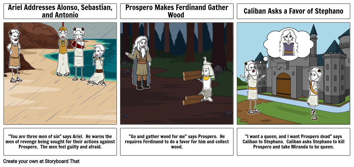 The Tempest Act III Storyboard