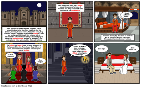 Post-Classical China(Japan) (storyboardthat)