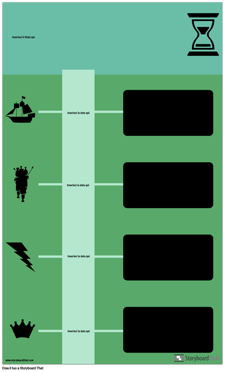 Blocca Cronologia Infografica