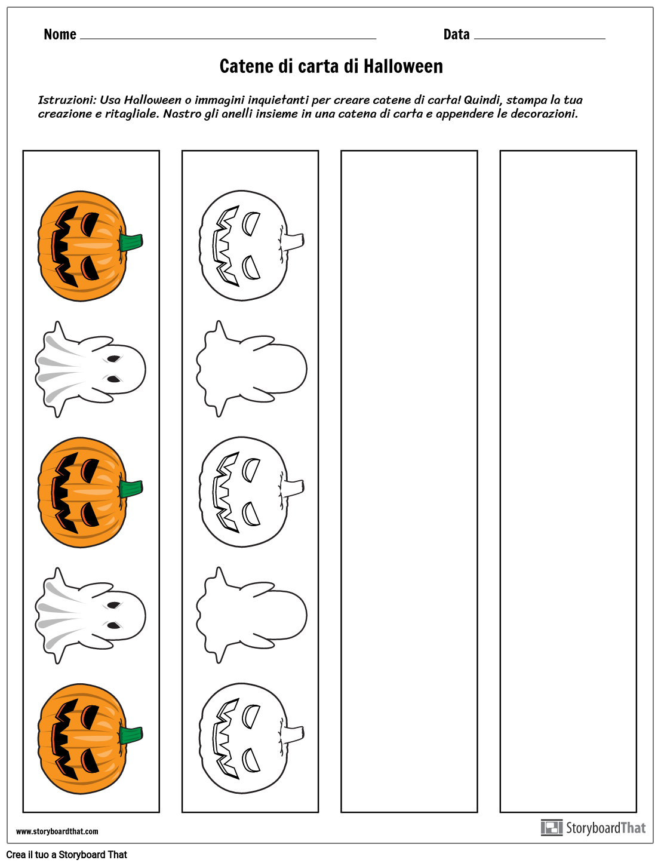 Catene di Carta di Halloween